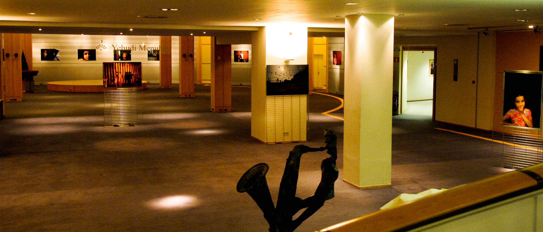 The venue of my exhibtion before the opening , Yehudi Menuhin Hall, EP. Brussels