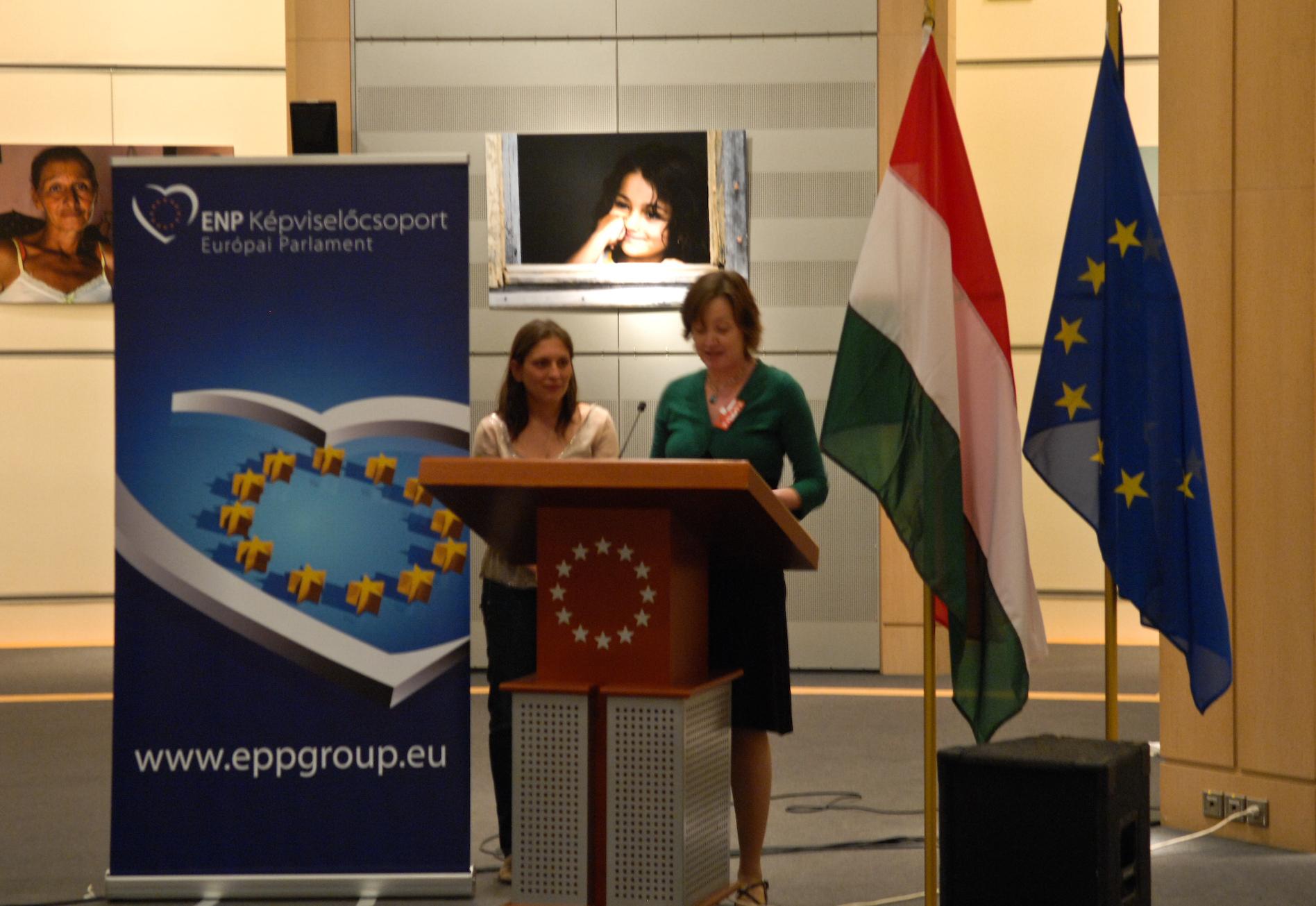 Jana Hainsworth, Eurochild and and MEP L. Járóka